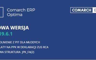 Nowa wersja Comarch ERP Optima 2019.6.1